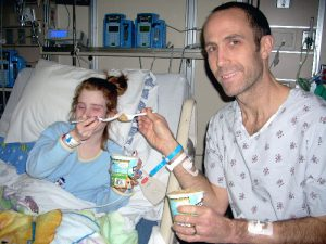 Bill, living kidney donor, with daughter Emma, pediatric kidney transplant recipient