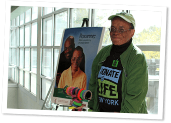Roxanne advocates for the gift of life through organ donation