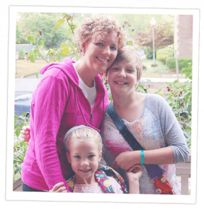 Susan Robinson with daughters, Abigail and Anna