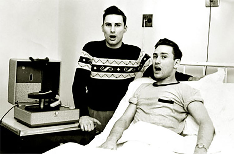 Richard and Ronald Herrick, first successful living donor transplant in 1954