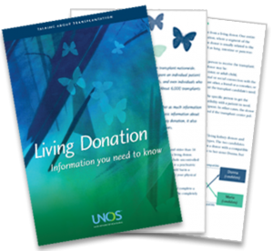 UNOS living donation brochure