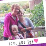 Donor mother, Susan, with Abigail and Anna